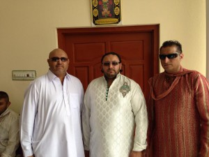 Habib with his brothers Hafeez and Aziz Rehman, April 2014